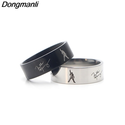 P3449 Dongmanli Şarkıcı Müzik grubu Sanat Freddie Mercury Paslanmaz çelik Yüzük Takı hayranları Hediye