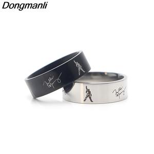P3449 Dongmanli Singer band Music Art Freddie Mercury Stainless steel Ring Jewelry fans Gift(China)
