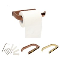 Gold Rose Gold Wall Mounted Brass Toilet Paper Holder Bathroom Kitchen Roll Paper Rack Tissue Holder