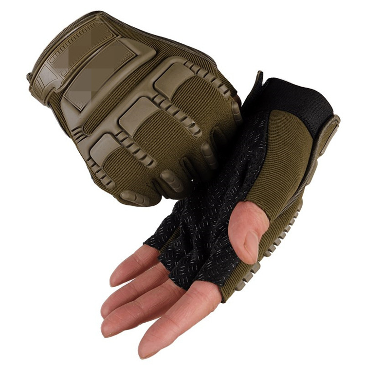 Tactical Half finger Gloves for Male Outdoor Skid proof and Wear resistant Special Forces Training