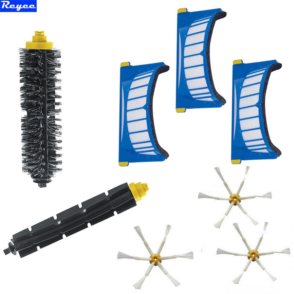 New AeroVac Filter + 6 Arms Side Sidebrush for iRobot Roomba 600 Series 620 630 650 660 Bristle Brush Flexible Beater Brush free post new 3 pieces 6 arms sidebrush for irobot roomba 500 600 700 series side brush 550 560 570 630 650 760 770