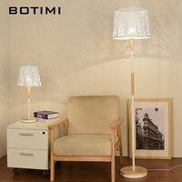 BOTIMI Новое поступление светодио дный СВЕТОДИОДНЫЙ торшер с выгравированным абажуром для спальни домашний декор белый пол свет отель деревя