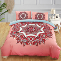 Fanaijia pink Mandala beddings sets queen size India Bohemia duvet Cover With Pillowcases Design Bed Set