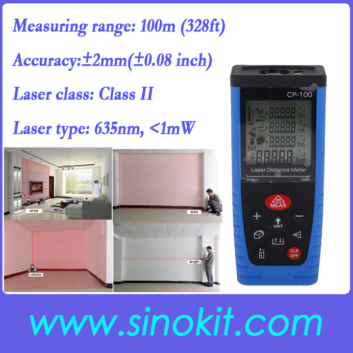 цены Free Shipping 100m Digital Laser Distance Meter Rangefinder Tape Measure Tool Range Finder CP-100