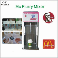 XEOLEO 220V/110V Flurry Ice cream maker 2500rpm Ice cream mixer 200W Stainless steel Milkshaker Milk shaking machine CE approved