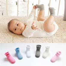 2016 Fashion Baby Infantil Comfortable Breathable Socks Boys Girls 1 Pair Cotton Candy Color Floor Sock Kids Cute Unisex Socks