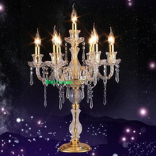 crystal table lighting for weddings modern crystal table lamps for living room beside lamp lustres home lighting wedding room