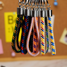 2019 NEW Hand Made PU Leather Strap Key Chains Weave Rope Key Ring Car Keychains Woven Cord Key Chain Holder DIY Accessories personalized custom unique car key chains lanyards key ring key finder feather keychains leather tassel