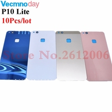 10Pcs Battery Back Cover For Huawei P10 Lite Door Case For HUAWEI Nova Lite Housing Replacement   Back Camera Glass Lens Case