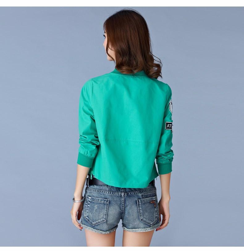 7 Colors Spring Summer Jacket Women Leisure Loose Plus Size Coat O Neck Long Sleeve Autumn Sport Jackets Casaco Feminino 2016 A8 F