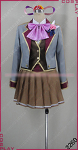 Colopl RUNE STORY Ying Cosplay Costume Halloween Uniform Outfit Top+Waistcoat+Skirt+Shirt+Headdress+Legging Custom-made