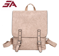 SA Fashionable School Bags for Teenage girs Women Backpack pu Leather Vintage Backpacks Female School Bag mochilas mujer Daypack