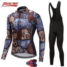 2019 NEW Team FUALRNY Long sleeve Ropa Ciclismo Cycling Jersey set 9D/Autumn Mountian/MTB Bike Clothes For Man Stitching pattern цены