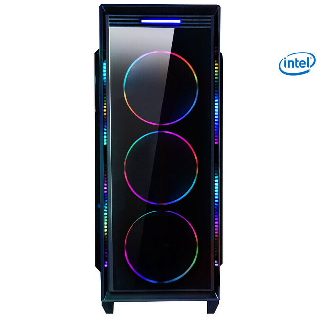 Z1-2 Gaming Desktop PC Intel i7 8700 3.2GHz 120mm Water liquid Cooling GTX 1070Ti 240GB SSD 8GB RAM Computer Home Colorful Fans 4