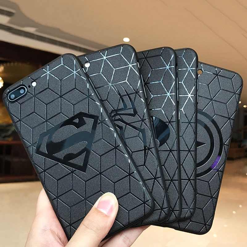 Classic US Amine Comic Marvel Avengers Superhero logo Case for iPhone 6s 7 8 6 Plus X XS Max XR TPU Capa Spiderman Iroman Batman