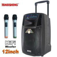 TEMEISHENG рычаг SL12 высокое Мощность Портативный громкий Динамик Bluetooth Динамик Поддержка Wirelss Микрофон Напольные колонки MP3 плеер