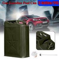 5 Gallon 20L Metal Petrol Gas Can Car Motorcycle Petrol Gas Gasoline Can Tank With Glove With Oil Tube