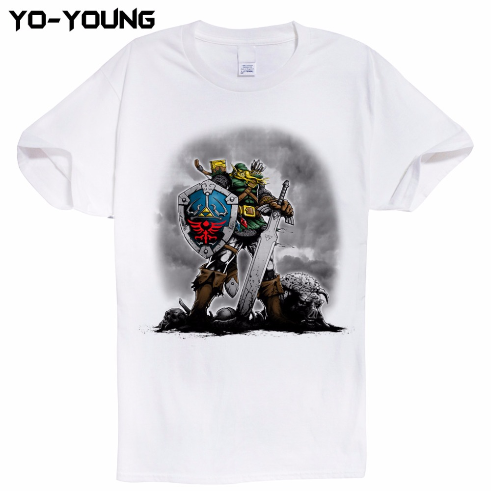 Design t shirts uber - Zelda Men T Shirts The Legend Of Zelda Uber Link Design Digital Printing 100 180 Gsm Combed Cotton Casual Top Tees Customized