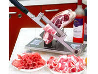 슬라이서 양고기 롤링 머신 스테이크 커팅 나이프 냉동 고기 조각 도구 스테인레스 스틸 과일 야채 칩기구