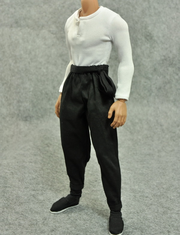 1/6scale figure clothes for 12″ Action figure doll accessories.Bruce Lee Kung Fu clothing Long sleeve for doll.not included doll