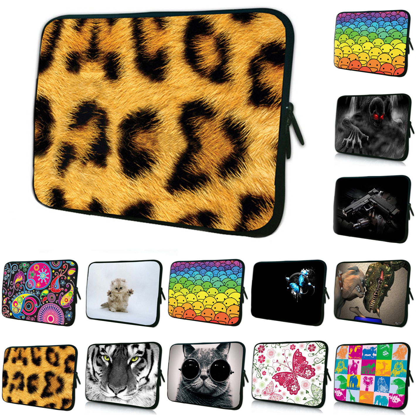 16 17 Notebook Computer Shell Inner Bag Cases For Apple Macbook Dell Alienware M17x 16.8 17.4 17.3 Laptop Pouch Cover Bags