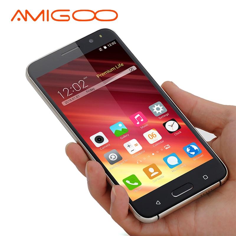 AMIGOO X18 3G 5.5 Inch Smartphone Android 5.1 MTK MT6580 Quad Core 512MB RAM 8GB ROM Unlock Dual Sim Card Mobile Phone WiFi GPS