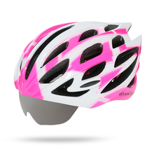 MTB Road Bike helmet with 3 goggles glasses men and women cycling helmet bike equipment integrally