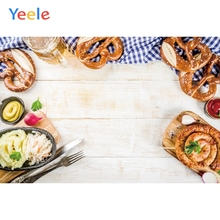 Yeele Oktoberfest Carnival Beer Foods Tableware Wood Photography Backdrop Personalized Photographic Backgrounds For Photo Studio