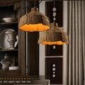 Criativo luzes pingente lâmpada pingente de design de concreto retro pendant light para café corda lâmpada retro pendant light