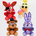 "16pcs/lot Five Nights At Freddy's 4 10"" 25cm FNAF Freddy Fazbear Bear Fox Foxy Chica Plush figure Toy Kid Doll Christmas Gift"