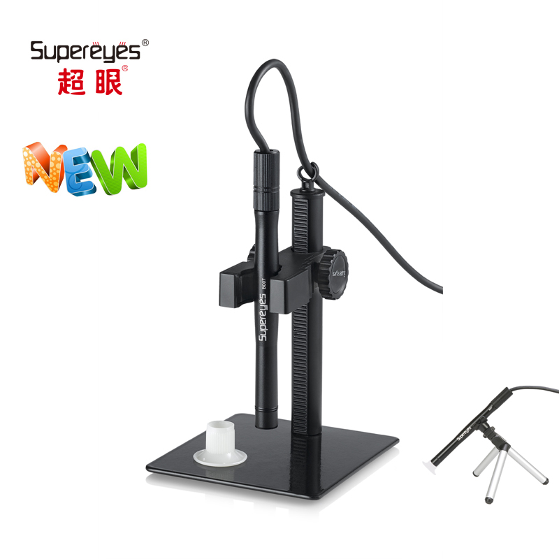 Supereyes 500x Digital Microscope 2.0MP Zoom MINI USB Video Magnifier Support Android Phone OTG with LED and Adjustable Stand 600x digital microscope mobile phone maintenance microscope electronic microscope video microscope magnifier with al alloy stent