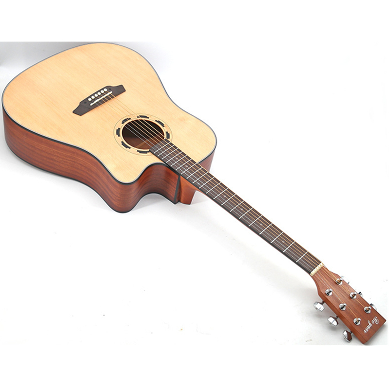 Guitare en bois massif de 41 pouces de haute qualité