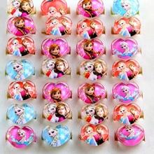 15 шт. Детские вечерние кольца с изображением принцессы Эльзы из мультфильма «Холодное сердце», аксессуары для дня рождения, детские украшения, подарок на день рождения