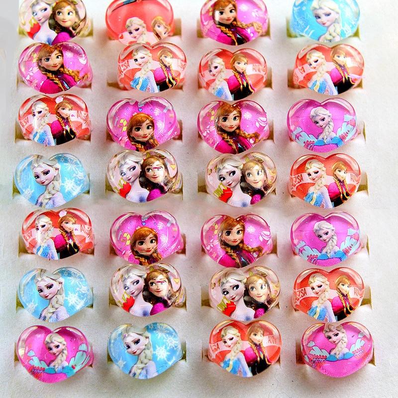 15pcs Disney Frozen Party Elsa Princess Children Ring Accessories Birthday Party Decorations Kids Gift Birthday Party Kids Favor