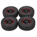 4Pcs AUSTAR AX-3020C 1.9 Inch 103mm 1/10 Scale Tires with Wheel Rim for 1/10 D90 SCX10 CC01 RC Rock Crawler Parts