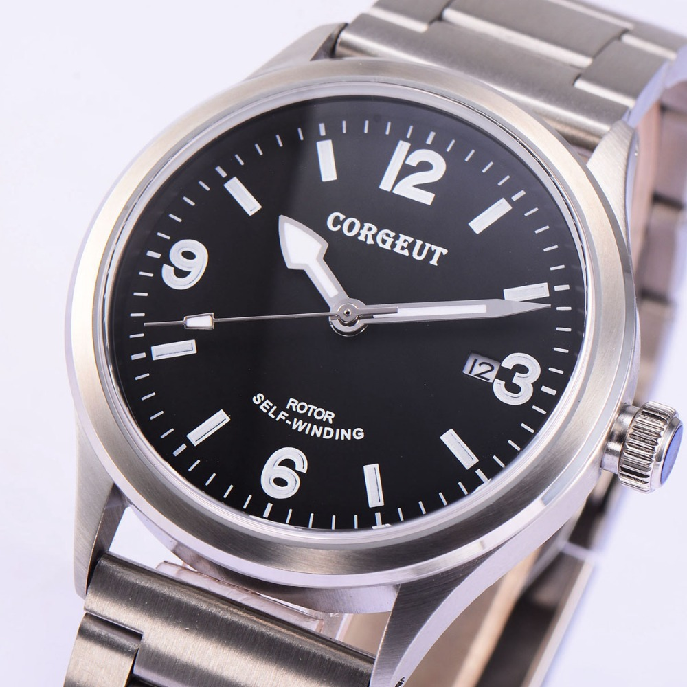 41mm Corgeut Wristwatches stainless steel Case Black Dial Date 20ATM Miyota 2815 Automatic Movement Mens water resistant Watches 41mm corgeut wristwatches stainless steel case black dial date 20atm miyota 2815 automatic movement mens water resistant watches