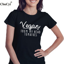 "Super cool ""VEGAN from my head Tomatoes"" women shirt / girlie"