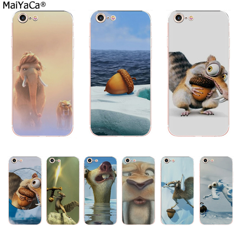 MaiYaCa Ice Age Coque Shell Phone Case  for Apple iPhone 8 7 6 6S Plus X 5 5S SE 5C Cover