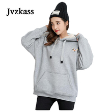 Jvzkass 2019 new lamb hoodie Korean winter velvet padded warm Loose ladies Z64