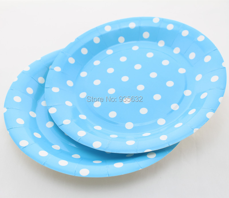Free Shipping 9  Blue Solid Polka Dot Dishes Wholesale Round Paper Plates Wedding Party Dessert Dishes-in Event u0026 Party from Home u0026 Garden on Aliexpress.com ...  sc 1 st  AliExpress.com & Free Shipping 9