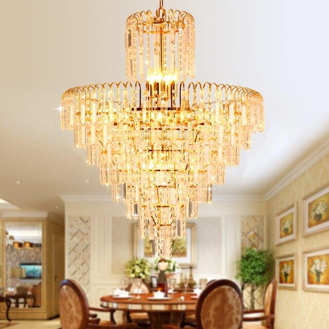 Modern Crystal Chandelier American Gold Chandeliers Lighting Fixture Home  Indoor Lighting Dining Room Hotel Hall Lobby