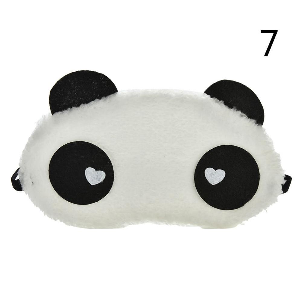 Mask For Sleep Cute Panda Sleeping Face Eye Blindfold Eyeshade Breathable Kids Women Travel Cover Health Care Aid Eyepatch Tool