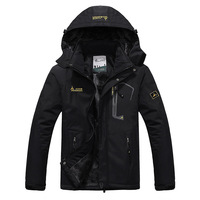 2016 Men S Winter Inner Fleece Waterproof Jacket Outdoor Sport Warm Brand Coat Hiking Camping Trekking