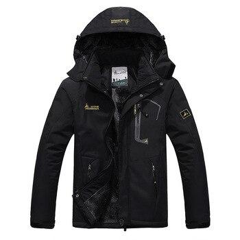 цена на 2020 Men's Winter Inner Fleece Waterproof Jacket Outdoor Sport Warm Brand Coat Hiking Camping Trekking Skiing Male Jackets VA063
