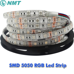 10 x 5m/roll SMD 5050 60Leds/m DC12V Led Strip Waterproof/Non waterproof White/Warm White/Red/Green/Yellow/Blue/Rgb