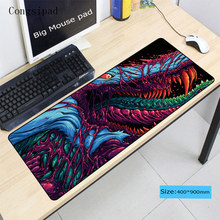 Congsipad fire Hyper beast CS GO Gaming Mouse Pad Locking Edge Large Mat PC Computer Laptop pad for dota 2 lol