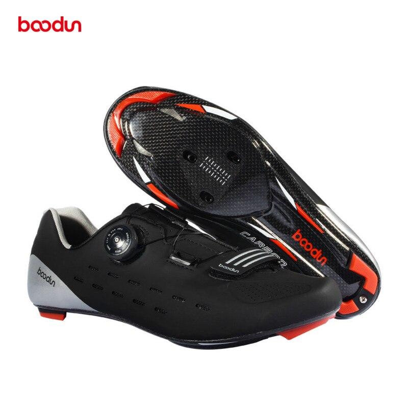Boodun Men s Carbon Cycling Shoes Road Carbon Bike Shoes Ultralight Breathable Self Lock Non slip