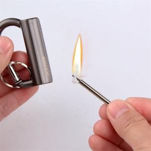 Image 4 - Outdoor Feuerstein Feuer Starter Permanent Instant Spiel Sturm Tragbare Schlüsselbund Überleben Werkzeug Outdoor Leichter Gadget Mann