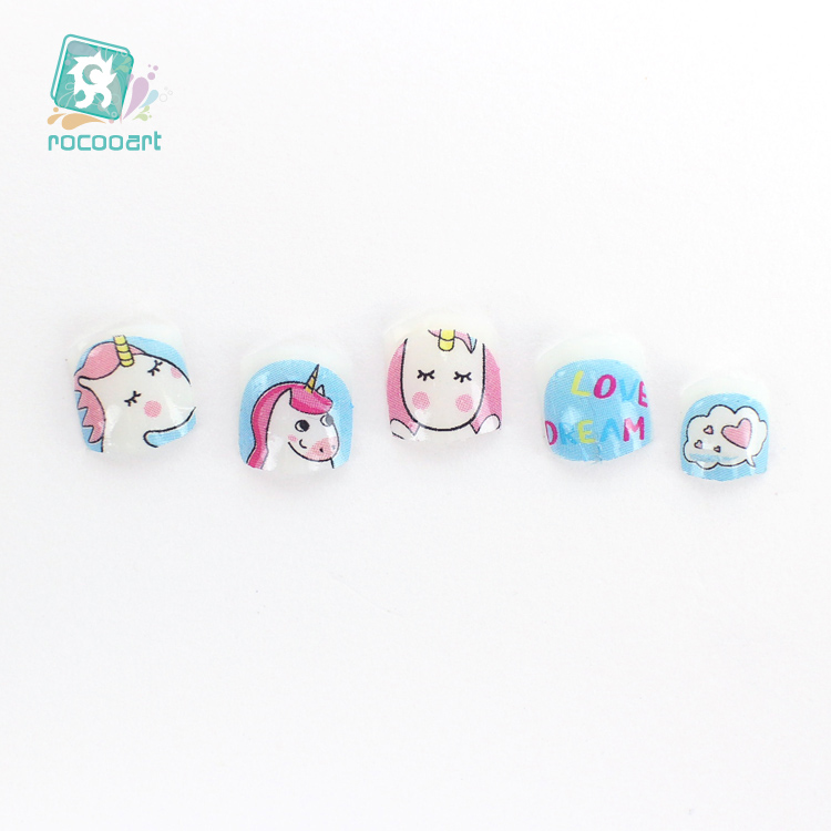 Image 3 - Latest 2018 Kids Unicorn Nail Art Stickers 3D Nail Art Decoration Self adhesive Tip Stickers Cartoon Nail Stickers For Children-in Stickers & Decals from Beauty & Health