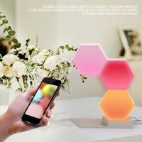 LED Night Light 3PCS/Set Creative Hexagonal Assembly LED Quantum Night Wall Light Smart Phone App Control Lamp